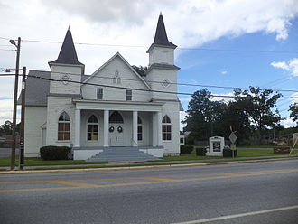 Waycross, Georgia - First African Baptist Church and Parsonage