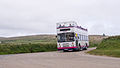 First Devon & Cornwall 38002 passing the Gurnard's Head Hotel on route 300 (8859421431).jpg