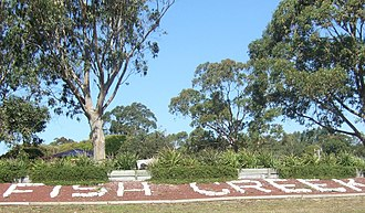 Fish Creek, Victoria - Sign