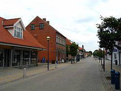 The mainstreet of Fjerritslev.