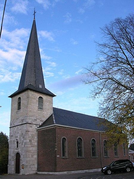Fléron, L'église St Denis au cœur de l'ancien village de Fléron. Kirche St. Denis