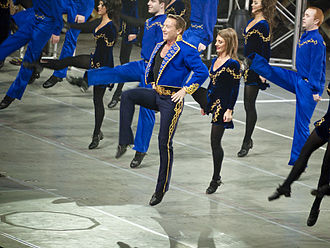 Feet of Flames - Image: Flatley in blue