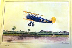 Fleet 2 aircraft sketched by A. E. (Ted) Hill.1930s.