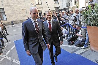 Fredrik Reinfeldt - Fredrik Reinfeldt and the Prime Minister of Poland, Donald Tusk.