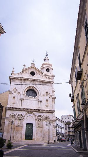 Foggia - Foggia, Cathedral from via Arpi