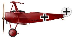 Capture of Wytschaete - Image: Fokker Dr I Richthofen
