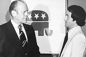 Republican National Hispanic Assembly - President Ford with Raul Espinoza, RNHA's first executive director, at the 1976 banquet
