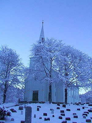 Førde Church, a typical Protestant church in N...