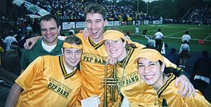 William & Mary Pep Band - Former Pep Band Directors (L→R): Doug Bunch, Andy Kramer, Jason Maga, Rebecca Nelson, Diana West