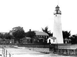 Fort Gratiot Lighthouse historic - Port Huron Michigan.jpg