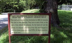 Fort Leavenworth Military Prison Cemetery - U.S.D.B. Cemetery Sign