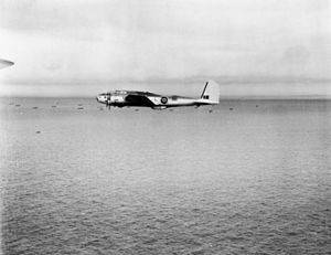 Fortress I 220 Sqn RAF in flight over convoy c1942.jpg