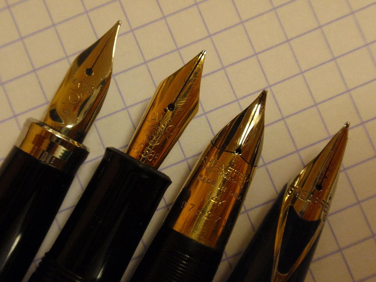 File:Fountain pen nibs.JPG - Wikimedia Commons