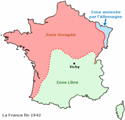 carte de france vichy
