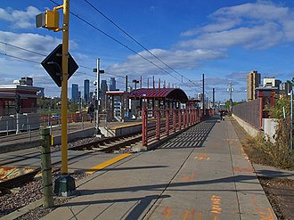 Franklin Avenue station (Metro Transit) - The station facing north