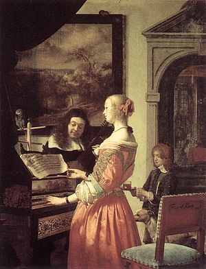 Fijnschilder - Image: Frans van Mieris (I) Duet WGA15629