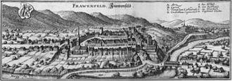 Frauenfeld - Frauenfeld in 1654, from the Topographia Helvetiae, Rhaetiae et Valesiae