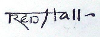 Frederick Hall (painter) - Frederick Hall's signature