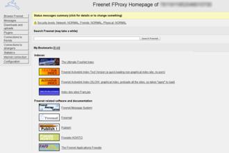 Freenet - Image: Freenetscreenshot