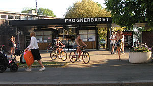 Frognerbadet - Entrance of Frognerbadet.