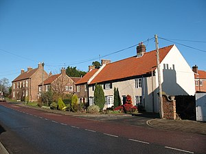 Topcliffe, North Yorkshire - Image: Front Street Topcliffe geograph.org.uk 324849