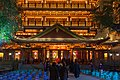 Front of the Great Buddha Temple in Guangzhou, at night.jpg