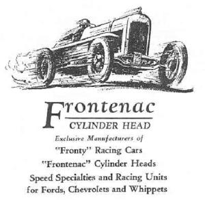 Frontenac Motor Corporation - A Frontenac Motors ad