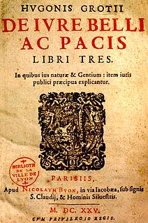 <i>De jure belli ac pacis</i> Book by Hugo Grotius