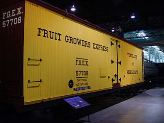 Fruit Growers Express - Wooden FGE reefer car at the Railroad Museum of Pennsylvania.