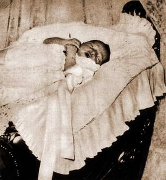 Fuad II of Egypt - Photograph after his birth in 1952
