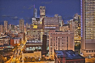 Fulton House (Chicago) - Image: Fulton house looking east