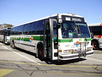 Rapid Transit Series - RTS-06 WFD model with wide front door (and bike rack in front)