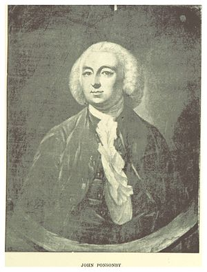 Irish House of Commons - John Ponsonby, speaker between 1756–1771
