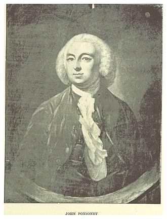 Irish House of Commons - John Ponsonby, speaker between 1756–1771