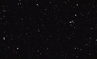 Galaxy - Scientists used the galaxies visible in the GOODS survey to recalculate the total number of galaxies.