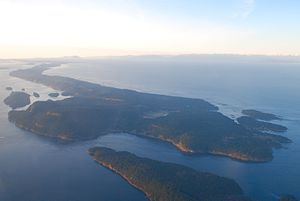 Galiano Island - View of Galiano Island from above.
