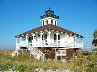 Gasparilla Island Lights - The Port Boca Grande Lighthouse is still active as an aid to navigation and has also been restored and houses a museum and gift shop.