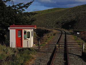 Weka Pass Railway - Gate No. 2 on the Weka Pass Railway.