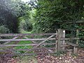 Gate and stile to footpath, Rudry Rd, Cardiff - geograph.org.uk - 1527121.jpg