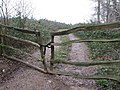 Gated track south of Little Brickhill - geograph.org.uk - 309973.jpg