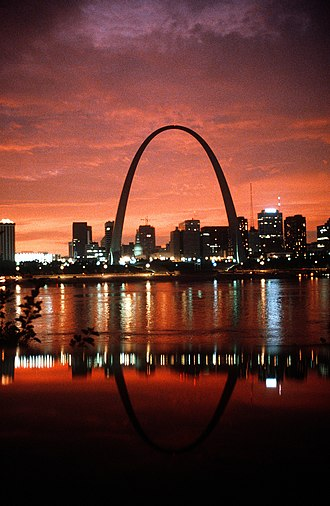 Iconography of St. Louis - the city skyline