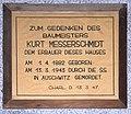 Gedenktafel Gervinusstr 20 (Charl) Kurt Messerschmidt.JPG