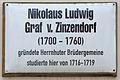 Gedenktafel Schlossstr 26 (Wittenberg) Graf von Zinzendorf.jpg