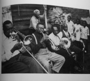 1950 in jazz - The George Lewis Ragtime Jazz Band in New Orleans, 1950