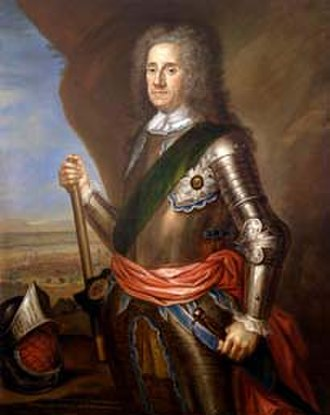 Battle of Ramillies - Field Marshal George Hamilton 1666–1737 Earl of Orkney, by Martin Maingaud