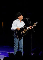 8641df4587ae Madonna tied country singer George Strait