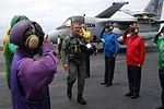 George W Bush on the deck of the USS Abraham Lincoln.jpg