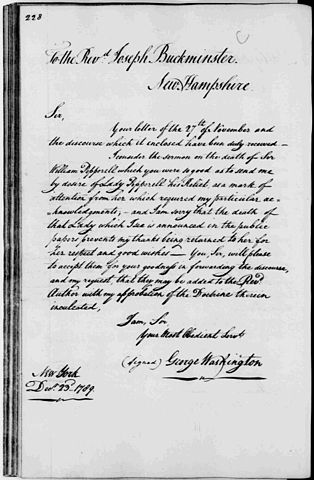 File George Washington Letter William Pepperrell Funeral Wikimedia Commons