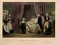 George Washington on his deathbed, 1799. Coloured engraving Wellcome V0006903.jpg