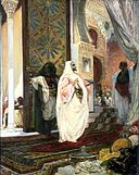 Georges Jules Victor Clairin - Entering the Harem - Walters 3782.jpg